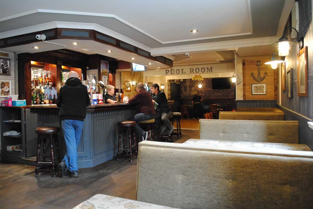 The main pub and pool table